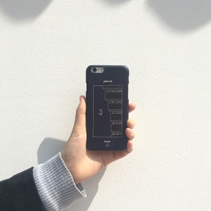 [O,LD! X High-rise] Phone case _ navy