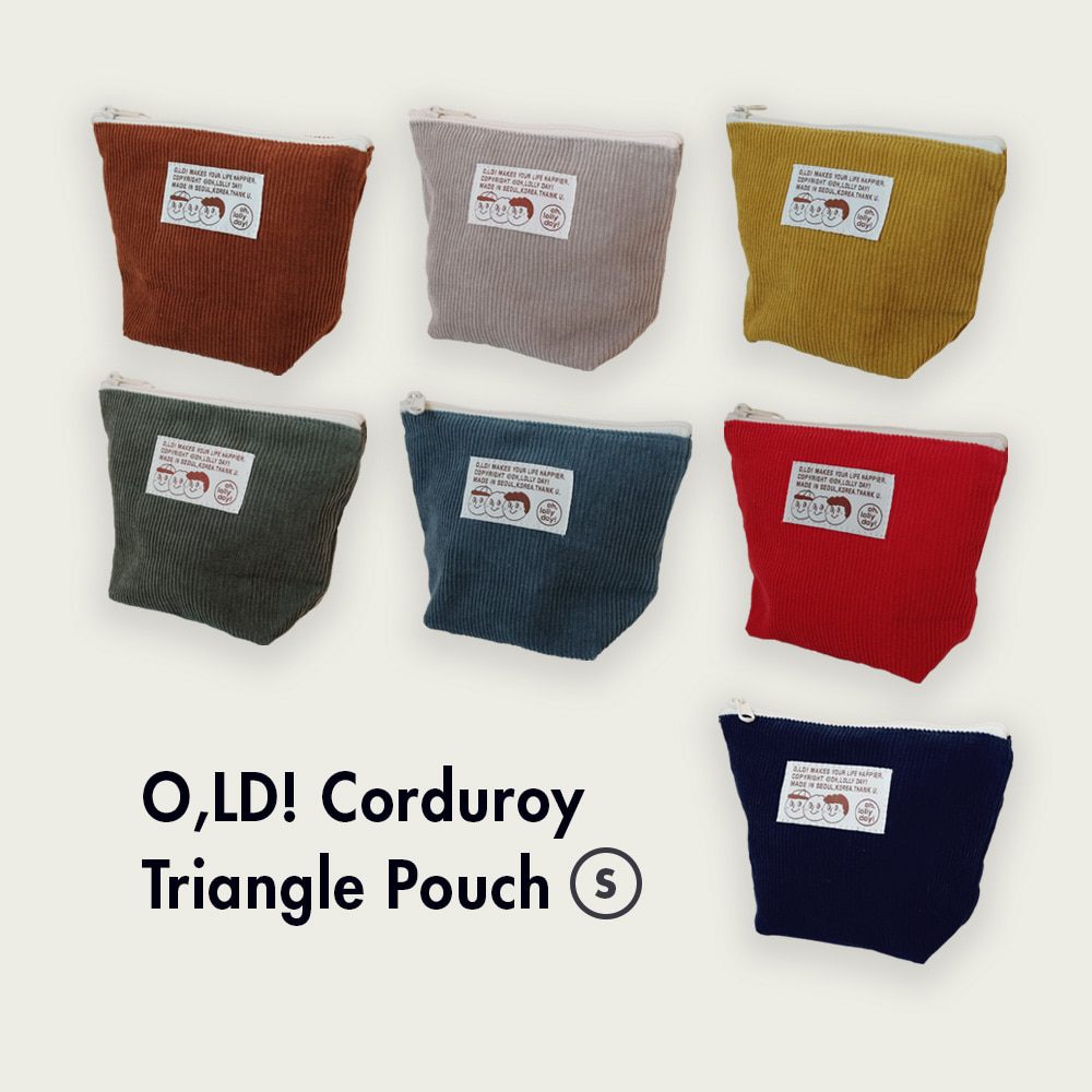 [Pouch] Triangle pouch_Corduroy_S