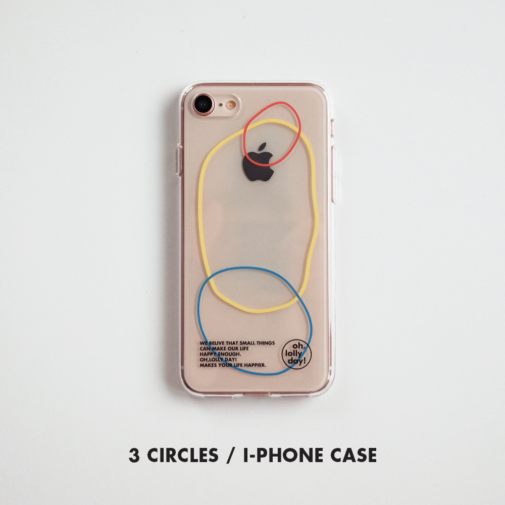 [Phone case] 3 circles_Jelly