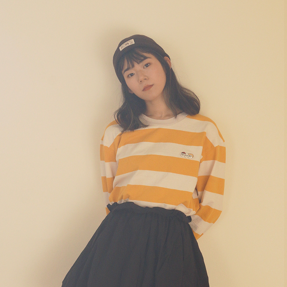 [Apparel] O,LD! long sleeves_stripe yellow