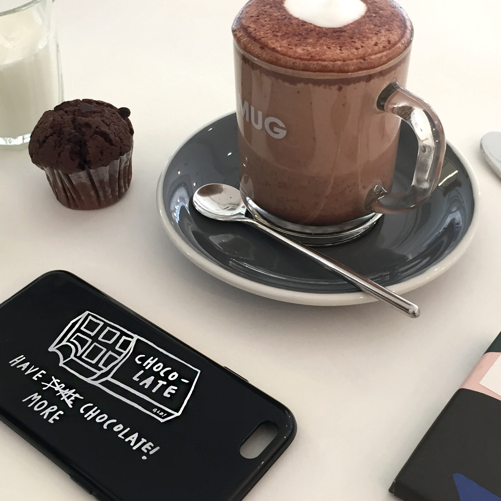 [Phone case] More!more! _ chocolate