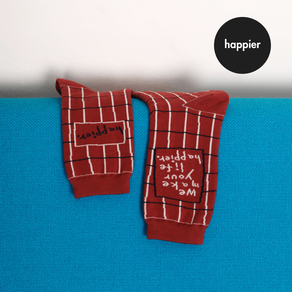 [O,LD! X I hate Monday] socks_Happier